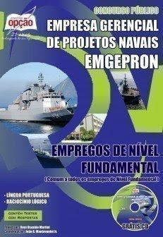 Apostila Emgepron para Escola Técnica da Marinha - ETAM Concurso Público EMPREGOS DE NÍVEL FUNDAMENTAL
