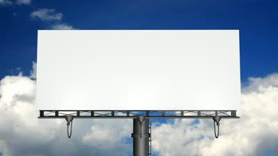 Blank Billboard with Moving Clouds (HD) stock video   Cloud ...