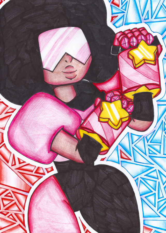 Steven Universe's Garnet~ She's just too awesome! I really love her, and Ruby and Sapphire are really adorable characters as well. I could never pick a Steven Universe favorite though, I love them ...
