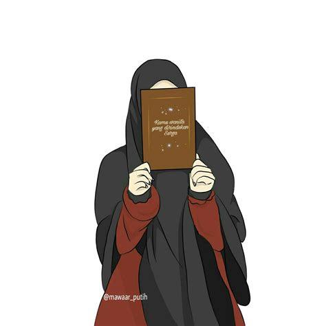 kartun muslimah keren cantik gaul cartoon  hd
