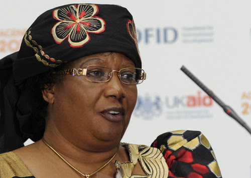 President Joyce Banda of the Southern African state of Malawi. Banda assumed office in the aftermath of the death former leader Bingu wa Mutharika who died on Friday, April 6, 2012. by Pan-African News Wire File Photos