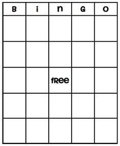 Free Bingo Card Template | Large Printable Blank Bingo Cards ...