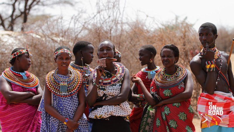 The colourfully decked Samburu tribals