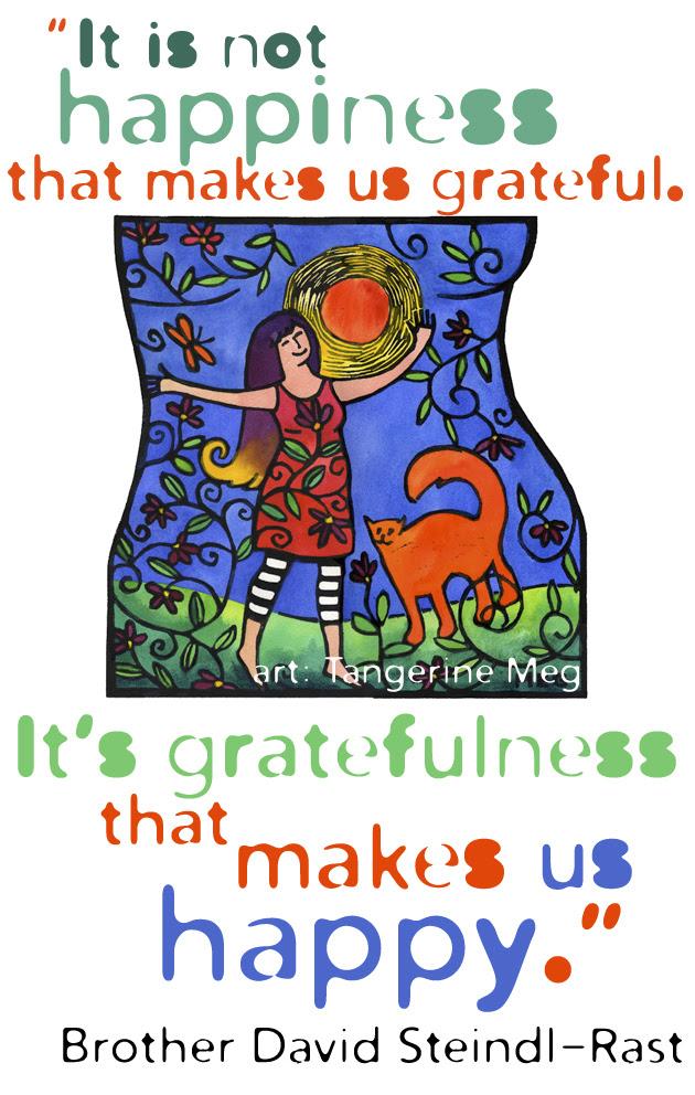 Bold Living 46 Happy Art And Gratitude Quote Tangerine Meg