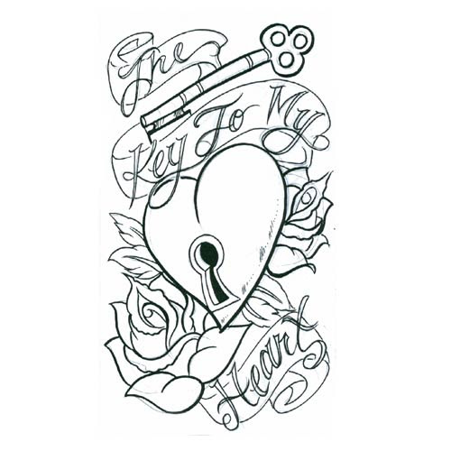 Free Heart With Banner Tattoo Designs Download Free Clip Art Free