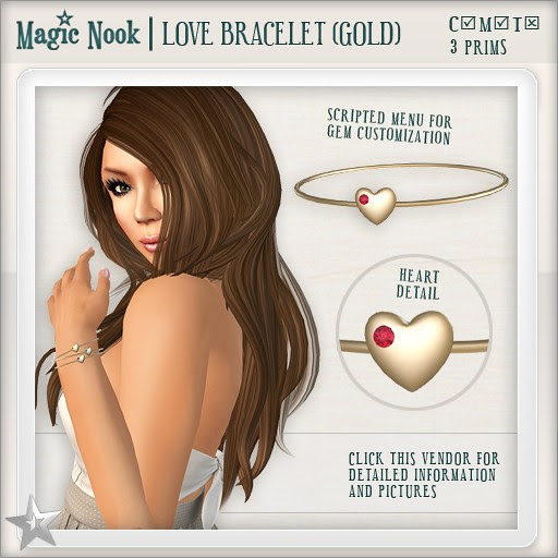 [MAGIC NOOK] Love Bracelet (Gold)