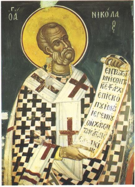 Феофан Критский церк. свт. Николая. Монастырь Ставроникита. Афон