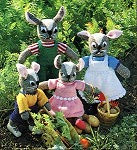 Knitted Bunny family