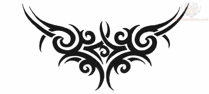 Beautiful Tribal Lowerback Tattoo Design
