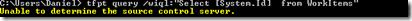 Fehlermeldung: Unable to determine the source control server.