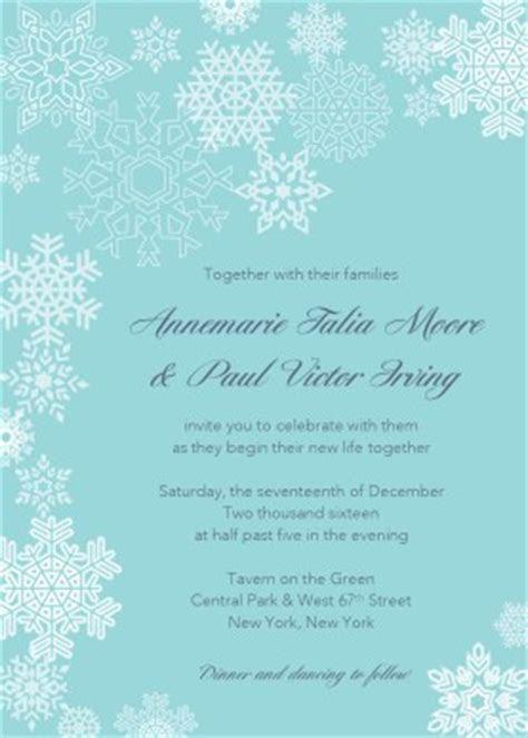 Printable Winter Blue Wedding Invitation Template