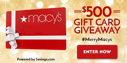 Macys $500 Giveaway