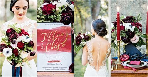 Must See, Romantic Burgundy Red and Navy Blue Wedding Ideas