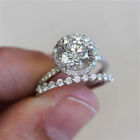 Brilliant and beautiful custom engagement ring with