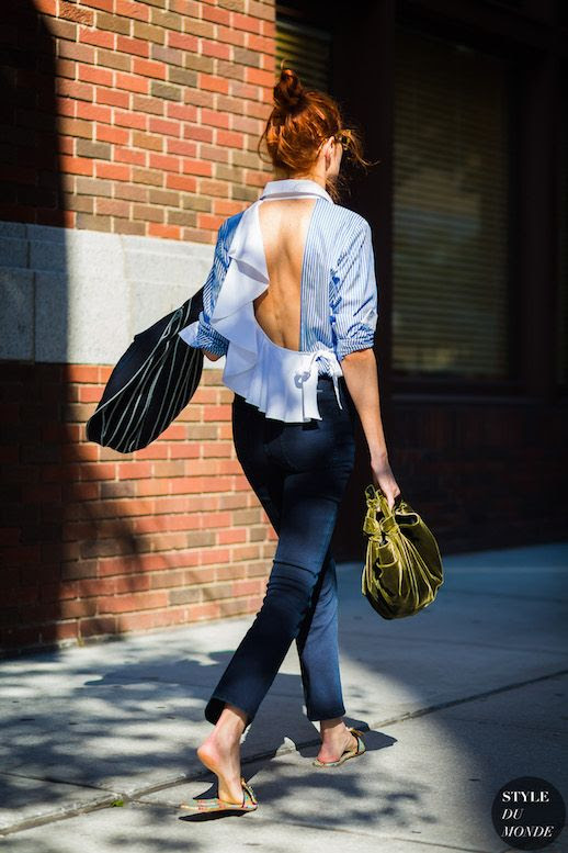 Le Fashion Blog Spring Summer Trend Open Back Split Blouses To Shop Now Via Style Du Monde