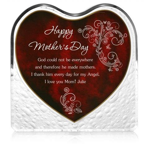 Mothers Day Personalized Heart Plaque   Personalized