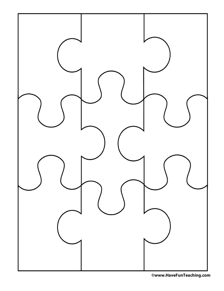 Blank Puzzle - 9 Pieces   Have Fun Teaching