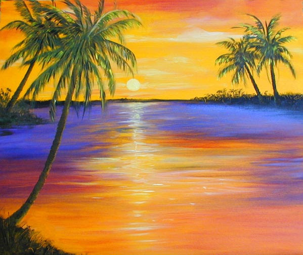 Key West Sunset Paintings