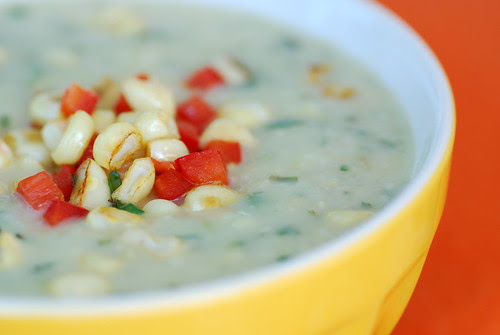zucchini and corn curry soup