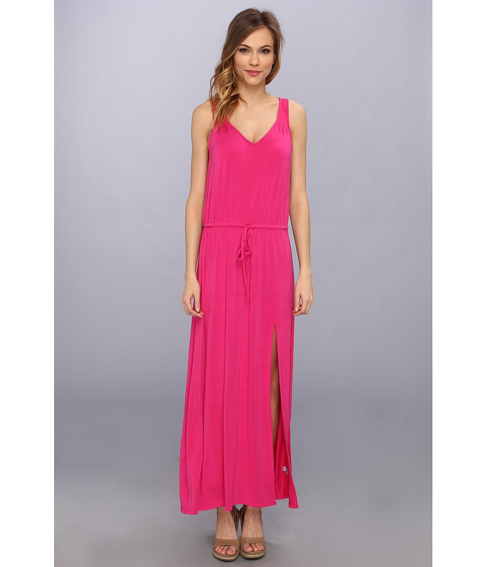 LAmade - V Back Tie Waist Maxi (Cactus Flower) Women's Dress