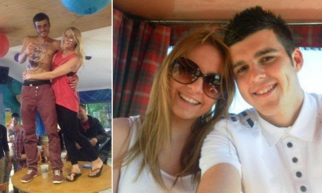 Trainee teacher Keiran Walsh, 22, and his girlfriend Louise Doyle, 20