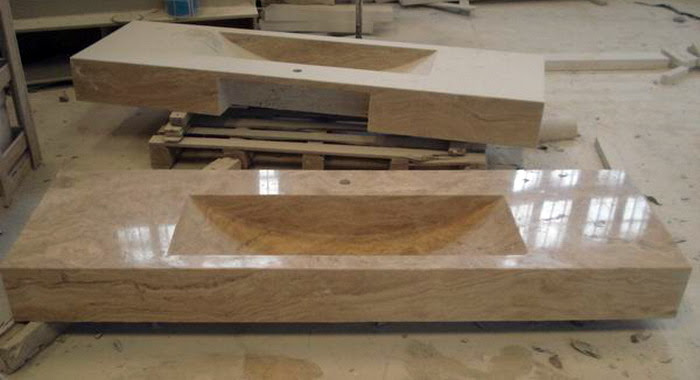 China Travertino Sinkchina Travertine Vanitytravertine Vanity Top