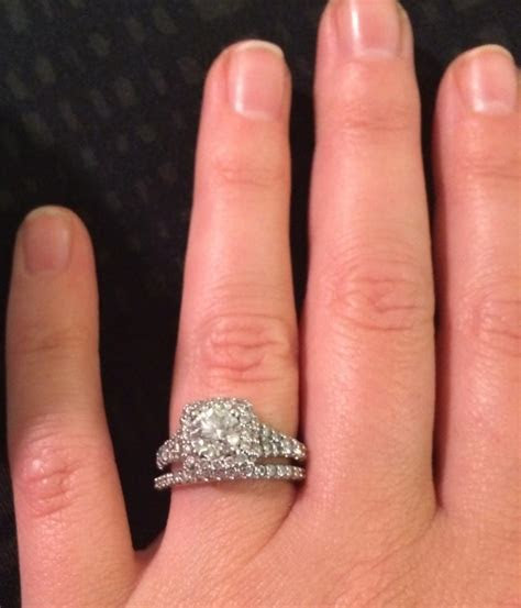 Acclaim hearts on fire diamond engagement ring   matching