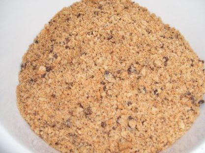 Chips Ahoy crumbs for chocolate chip cheesecake