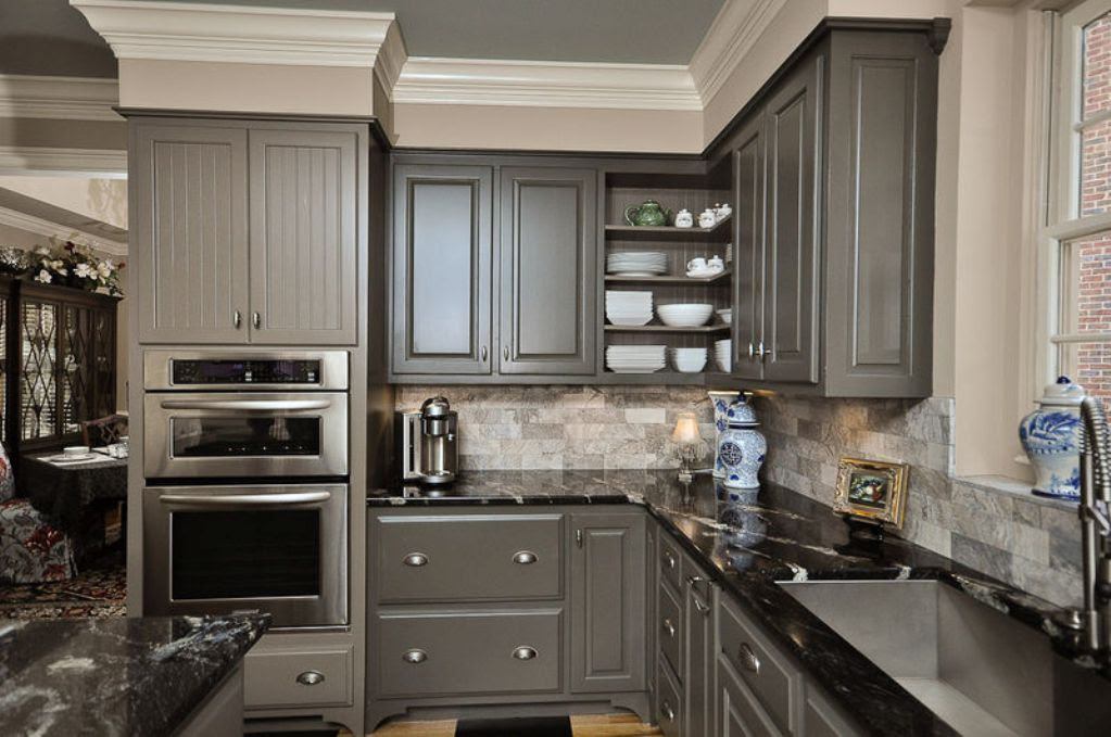 Ideas of Grey Kitchen Cabinets for your home - Interior ...