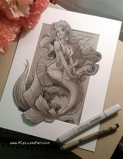 mermaid   kelleeartdeviantartcom  atdeviantart art