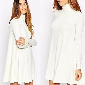 Von maur turtleneck dress sweater white off second hand