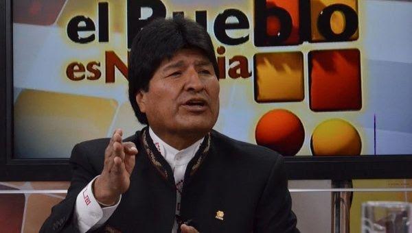 """Bolivian President Evo Morales denounces CIA involvement in his party on the TV show """"El Pueblo es Noticia,"""" Jan. 4, 2015"""