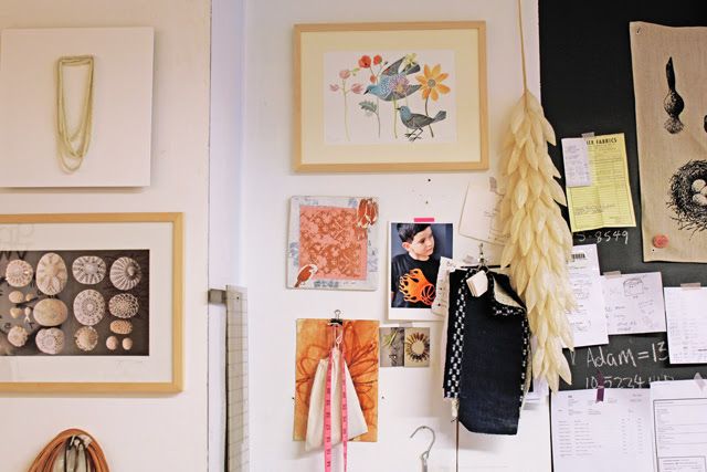 My birdies in Arounna's studio.