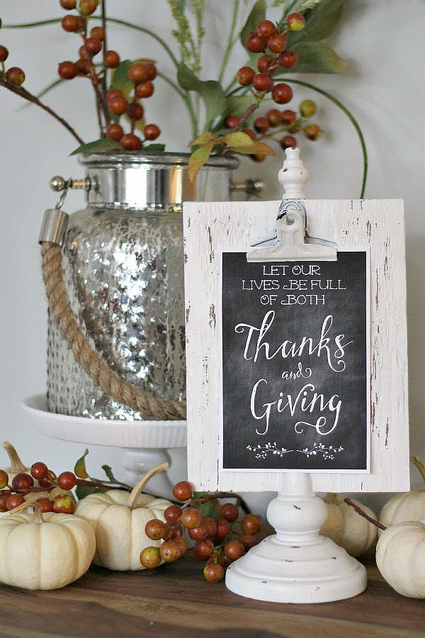 Thanks Giving Printables by Clean and Scentsible