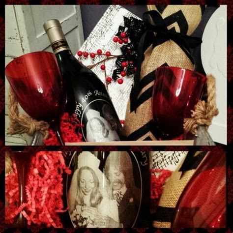 """40th Wedding Anniversary Gift basket* """"Ruby"""" theme for the"""