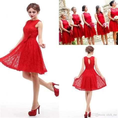 Red Short Bridesmaid Dresses   Dress FA