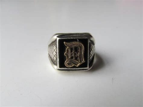 RESERVED Antique Art Deco Men's Signet Ring Size 9