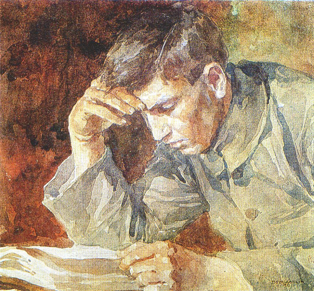 Image result for person reading painting