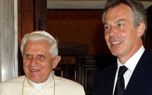 The pope and Blair partners in the work for a new World Order.