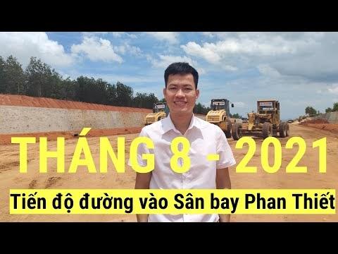 Cập nhật tiến độ đường dẫn vào sân bay Phan Thiết tháng 8-2021