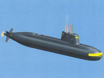 Предположительный внешний вид подлодки проекта S1000. Изображение с сайта livefist.blogspot.com
