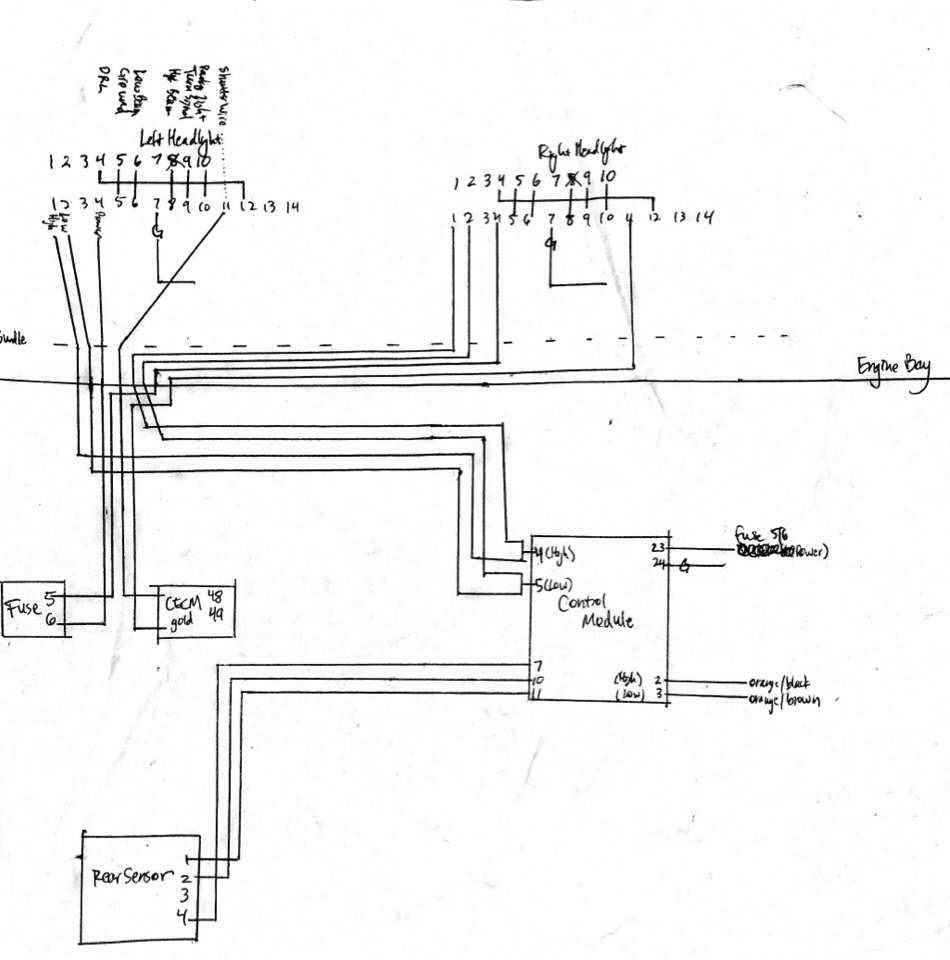 Xenon Headlight Wire Diagram