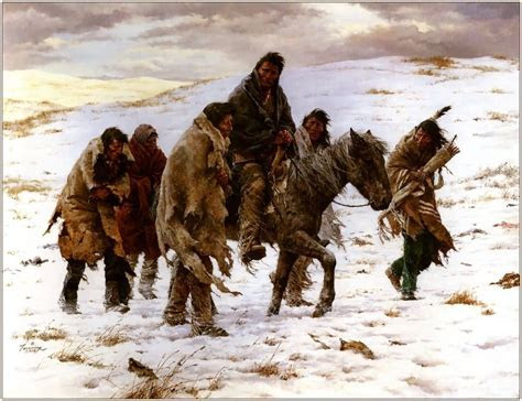 Howard Terpning : Chief Joseph Rides To Surrender