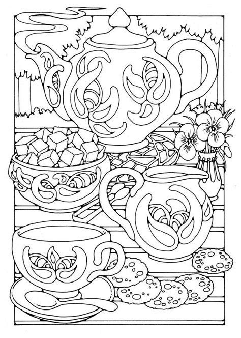 Dibujo para colorear Hora del té   Img 15805