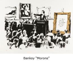 "Banksy ""Morons"")"