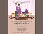 Expecting Couple - Baby Shower Invitations - African American