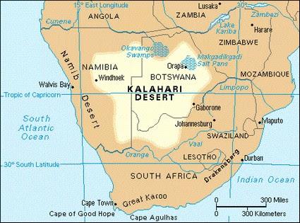 Desierto De Kalahari Mapa.Desierto De Kalahari Mapa Mapa