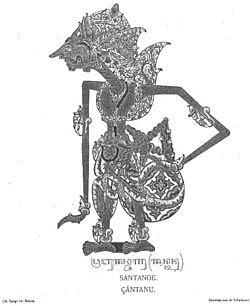 Prabu Santanu dalam versi Wayang Jawa