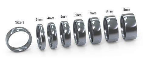 Titanium Ring Width Options by Cascadia Design Studio