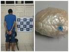 Jovem é preso em táxi com cocaína na BR-317 (Divulgação/PRF-AC)